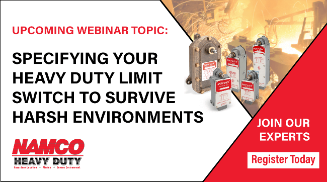 Webinar Specify Limit Switches for Harsh Envrionments